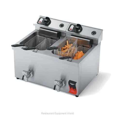 vollrath 40710 fryer electric countertop split pot