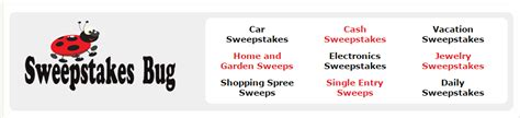 Sweepstakes Bug - 100 websites to submit and promote online contests upviral