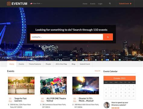 event directory theme responsive event