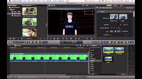 green screen tutorial final cut pro x keying green screen final cut pro x tutorial youtube