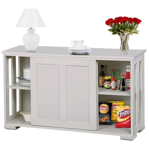 gobuy antique white stackable sideboard buffet storage
