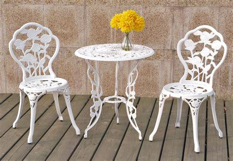 Iron Bistro Table Set 3 Cast Iron Bistro Table Set