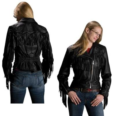 Interstate Leather Women's Madonna Fringe Black Leather