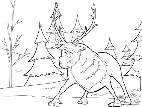 frozen reindeer coloring pages sven frozen coloring book