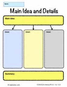 idea organizer organic main idea graphic organizer