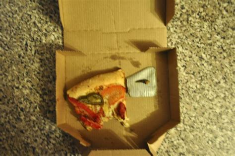 make throw up what this found in his dominos chicken pizza will make you throw up image 1