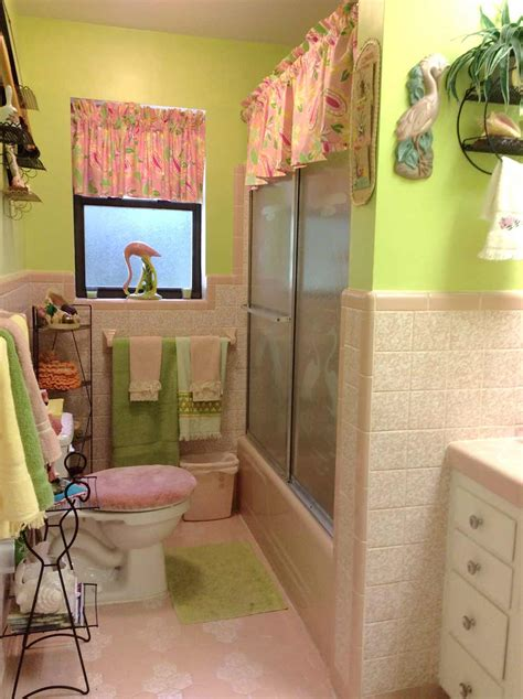 pink and green bathroom a lilly pulitzer palette for diane s vintage pink tile