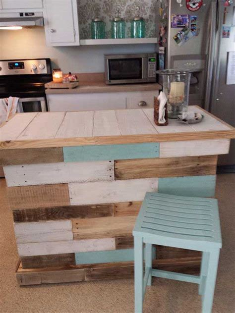 pallet board kitchen island top 23 cool diy kitchen pallets ideas you should not miss homedesigninspired