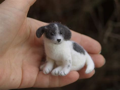 minature dogs stuffed animals by fadeeva miniature needle felted animals
