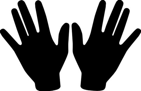 black hand hands clipart black and white clipart panda free