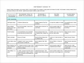 communication plan template excel 7 project communication plan templates free sle