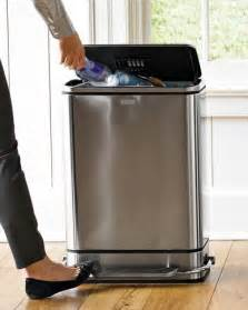 simplehuman steel bar step trash can modern trash cans by williams sonoma