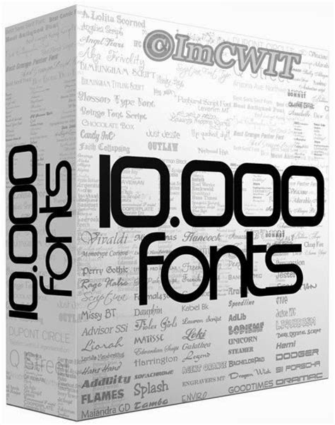 Free Download 10000 Huge Collection of Fonts 2013 | The