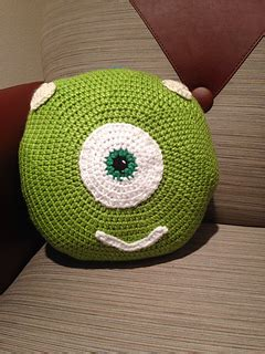 Gopher Pattern Works Inc | ravelry monsters inc inspired pillow pattern by melissa