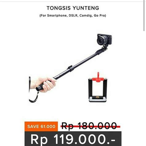 Monopod Gmc tongsis yunteng gmc for go pro dslr and etc yunteng 4