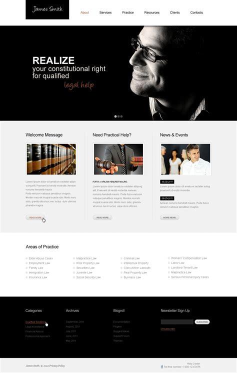 Lawyer Website Template 40125 Attorney Website Templates