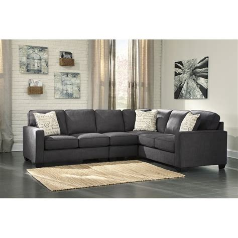 ashley furniture 3 piece sectional ashley furniture alenya right facing 3 piece sectional in