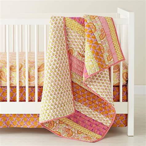 Contemporary Crib Bedding Handpicked Patchwork Crib Bedding Contemporary Baby Bedding By The Land Of Nod