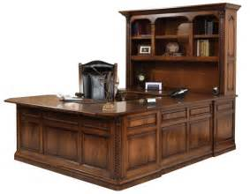 U Desk With Hutch U Shaped Desk From Dutchcrafters Amish Furniture