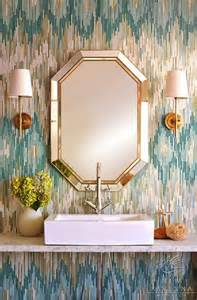 Visual Comfort Sconce Glamorous Powder Rooms Contemporary Bathroom New