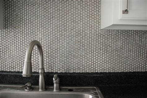penny kitchen backsplash how to diy a penny tile backsplash in your kitchen