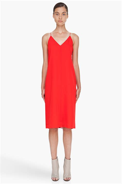 Slop Dress lyst t by wang silk georgette v neck slip dress in