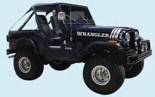 Phoenix graphix 1970 1997 jeep wrangler decal kit
