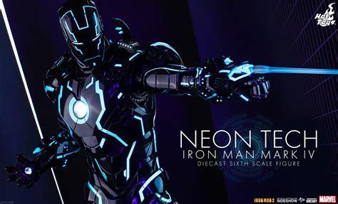 hot toys iron man mark iv neon tech armor nycc