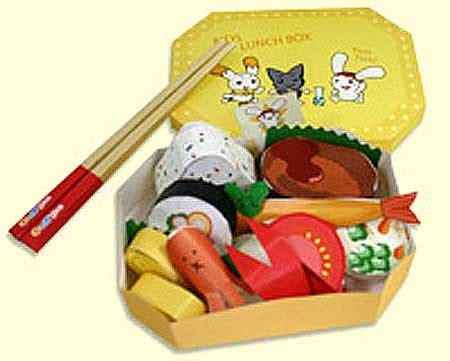 Food Papercraft - sushi lunch box papercraft sushi lunch box