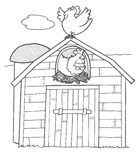 coloring book pages of barns barn coloring pages