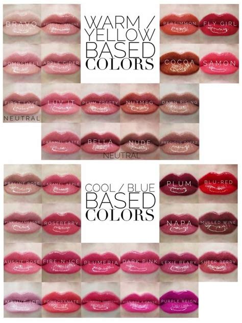 lipsense lip color here are our lipsense colors by whether warm or cool based