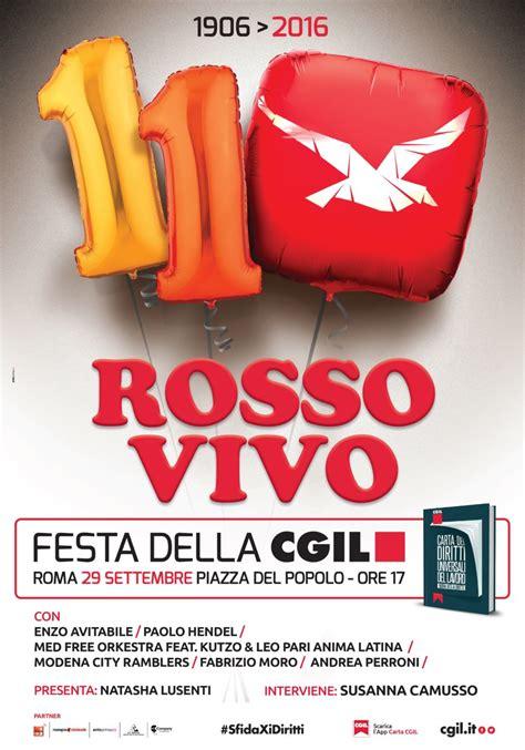 ufficio vertenze cgil roma 29 settembre rosso vivo la festa della cgil a roma at