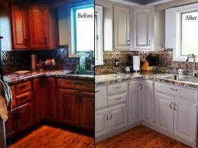 Repainting Kitchen Cabinets Diy Chalk Paint Kitchen Cabinets Before And After Of Chalk