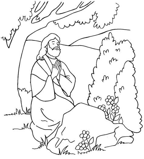 Jesus Praying 2 Esp P 225 Gina Para Colorear Sermons4kids