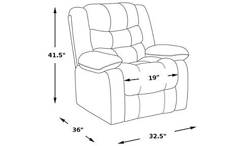 reclining chair dimensions baytown gunmetal lift chair recliner recliners gray