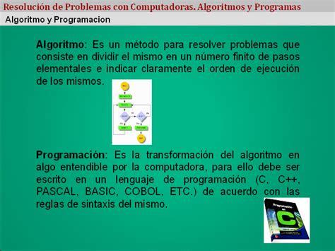informacion sobre la asignacion resoluci 243 n de problemas con computadoras algoritmos y