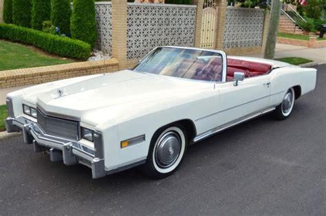 1975 cadillac for sale cadillac eldorado convertible 1975 white for sale