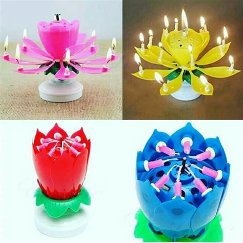 Lilin Musik Happy Birthday lilin bunga flower candle play and rotate toko