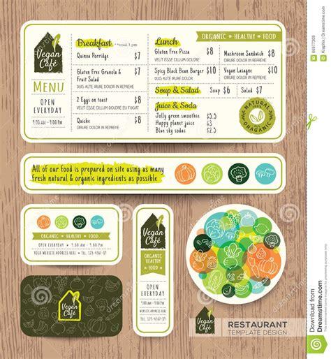 menu layout in html vegetarian restaurant food menu design vector illustration