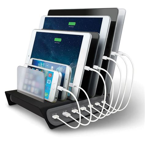 charging station the 7 device charging station hammacher schlemmer