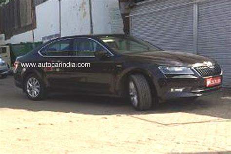 2016 skoda superb l k laurin and klement spied in india