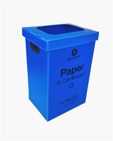 Oh Look Waste Paper Bins In Paper Sizes by Paper Cardboard Recycling Lid With Blue Ecobin