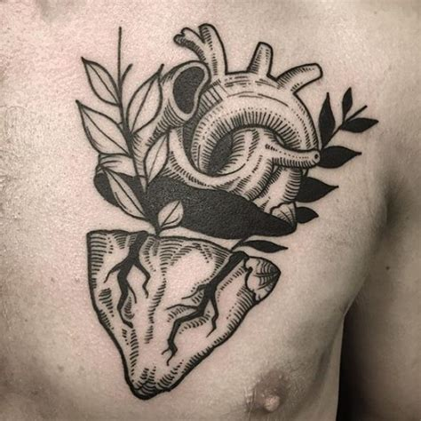 anatomical heart tattoo designs 38 anatomical tattoos amazing ideas