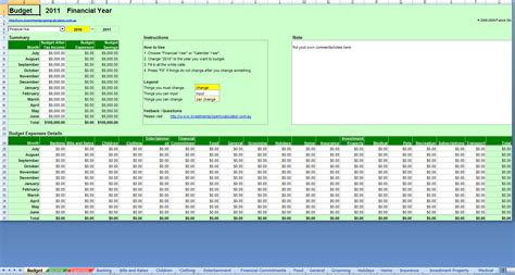 Free Budget Spreadsheet by Free Comprehensive Budget Planner Spreadsheet Excel