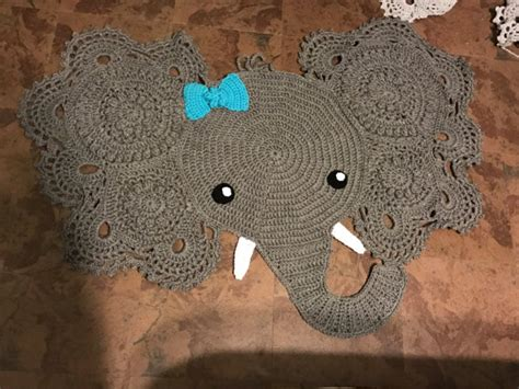 Crochet Elephant Rug by Crocheted Elephant Rug