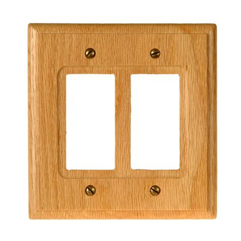 oak light switch covers amerelle 2 decora wall plate light oak 4025rr the home