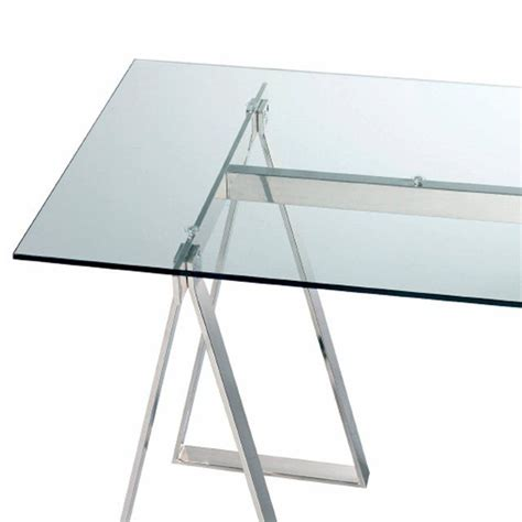 plateau de verre pour bureau les 2 tr 233 teaux en acier chrom 233 xenon 192 combiner avec le