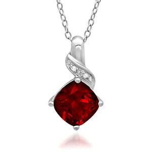 Ruby 9 2ct 2 1 2ct created ruby and pendant necklace in