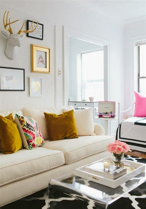 girly living room mix and chic home tour a fashion s girly chic