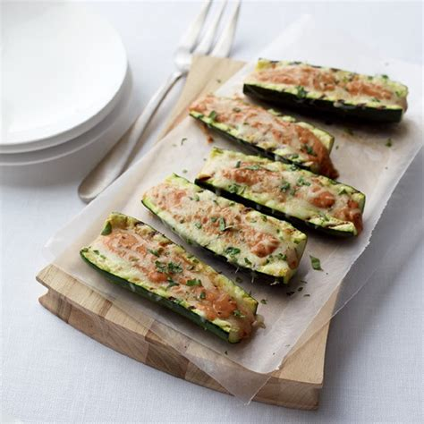 stuffed zucchini boats grilled 40 recipes that will make you love zucchini food network
